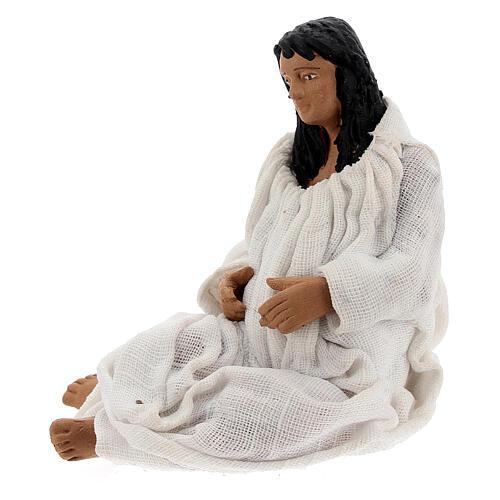Mulher dando à luz figura para presépio napolitano com personagens de altura média 13 cm 3
