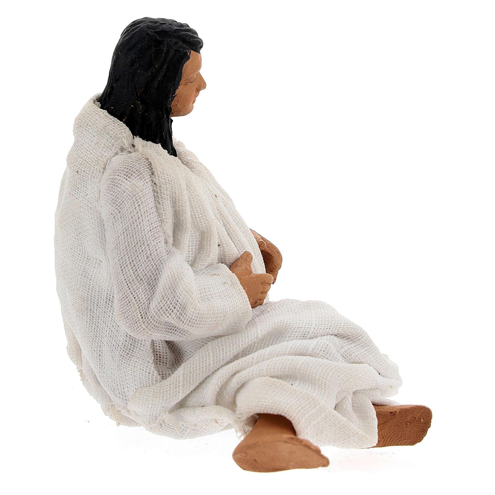 Woman giving birth Neapolitan nativity 13 cm 4