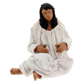 Woman giving birth Neapolitan nativity 13 cm s1
