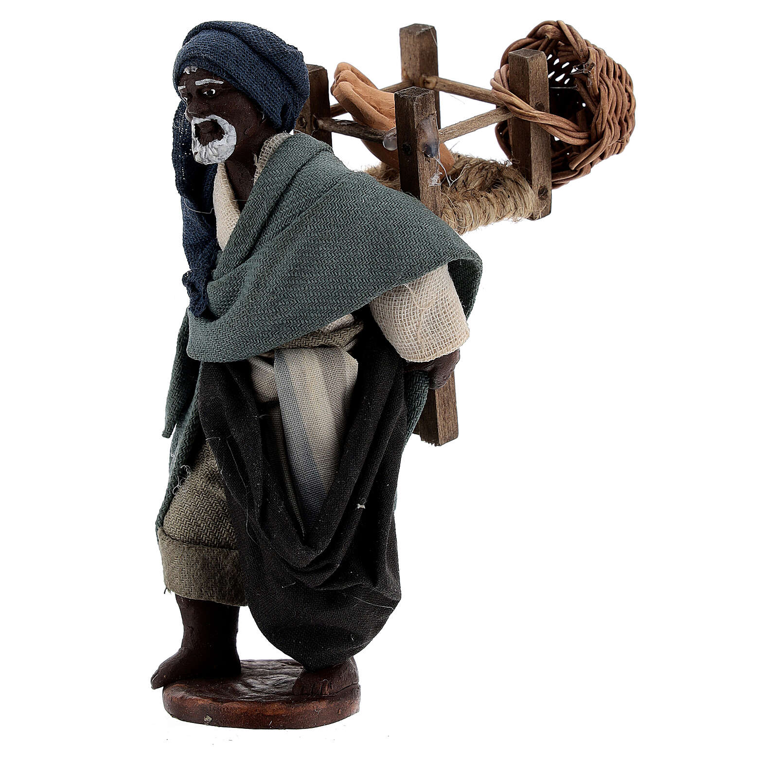 Traveling moor man Neapolitan nativity scene 10 cm 4