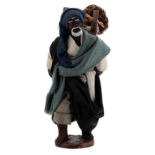 Traveling moor man Neapolitan nativity scene 10 cm 1