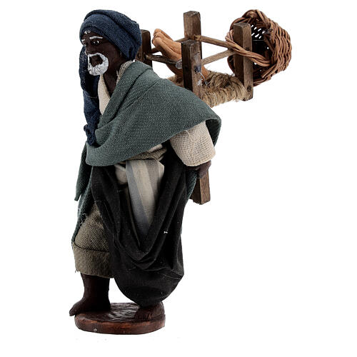 Traveling moor man Neapolitan nativity scene 10 cm 2