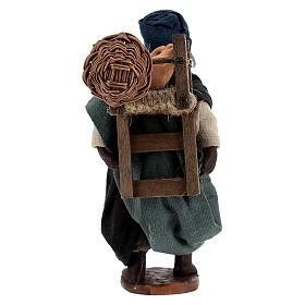 Traveling moor man Neapolitan nativity 10 cm s4