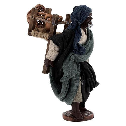 Traveling moor man Neapolitan nativity 10 cm 3