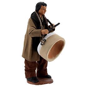 Uomo con tamburo presepe napoletano 13 cm s3