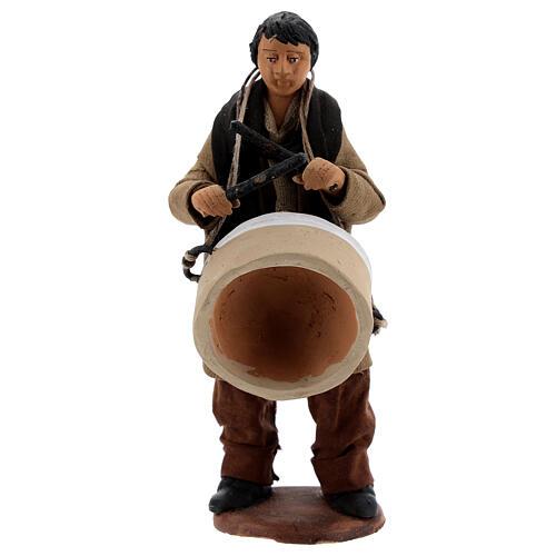 Uomo con tamburo presepe napoletano 13 cm 1
