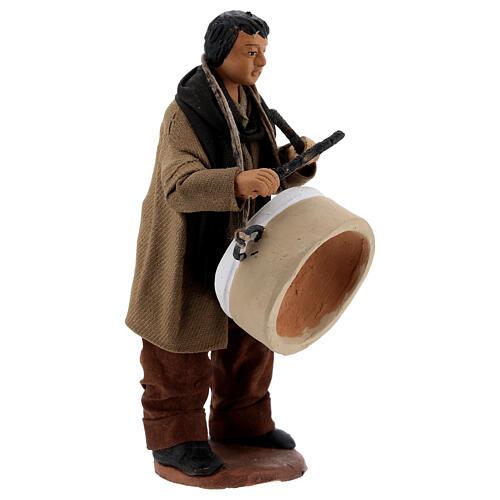 Uomo con tamburo presepe napoletano 13 cm 3