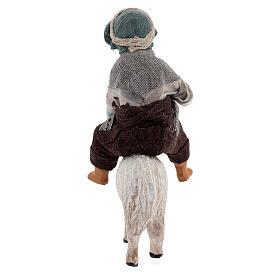 Boy on sheep Neapolitan nativity scene figurine 13 cm s4