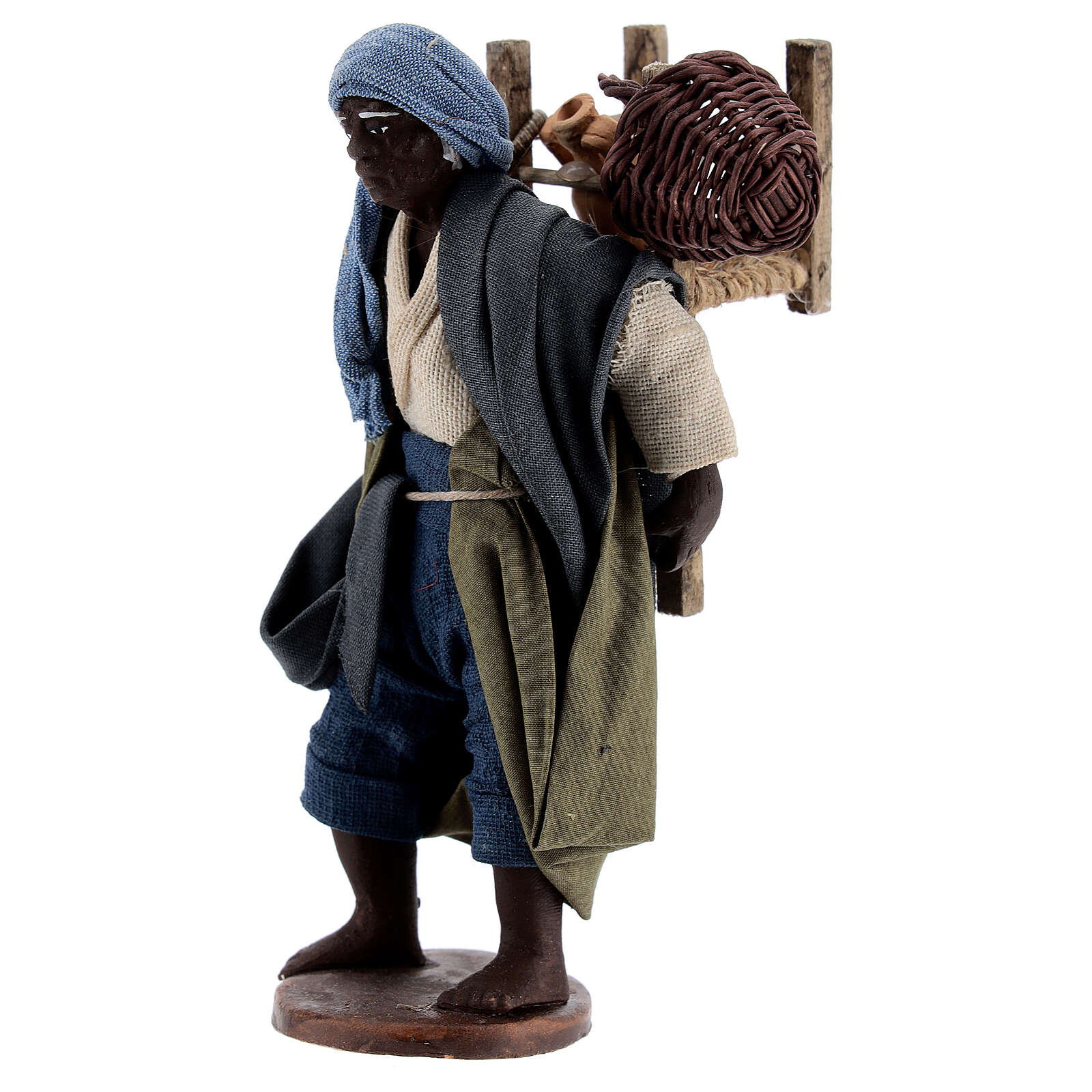 Moor itinerant statue Neapolitan nativity scene figurine 13 cm 4