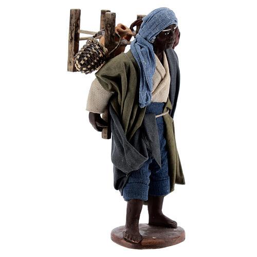 Vendedor ambulante africano para presépio napolitano com figuras de altura média 13 cm 2