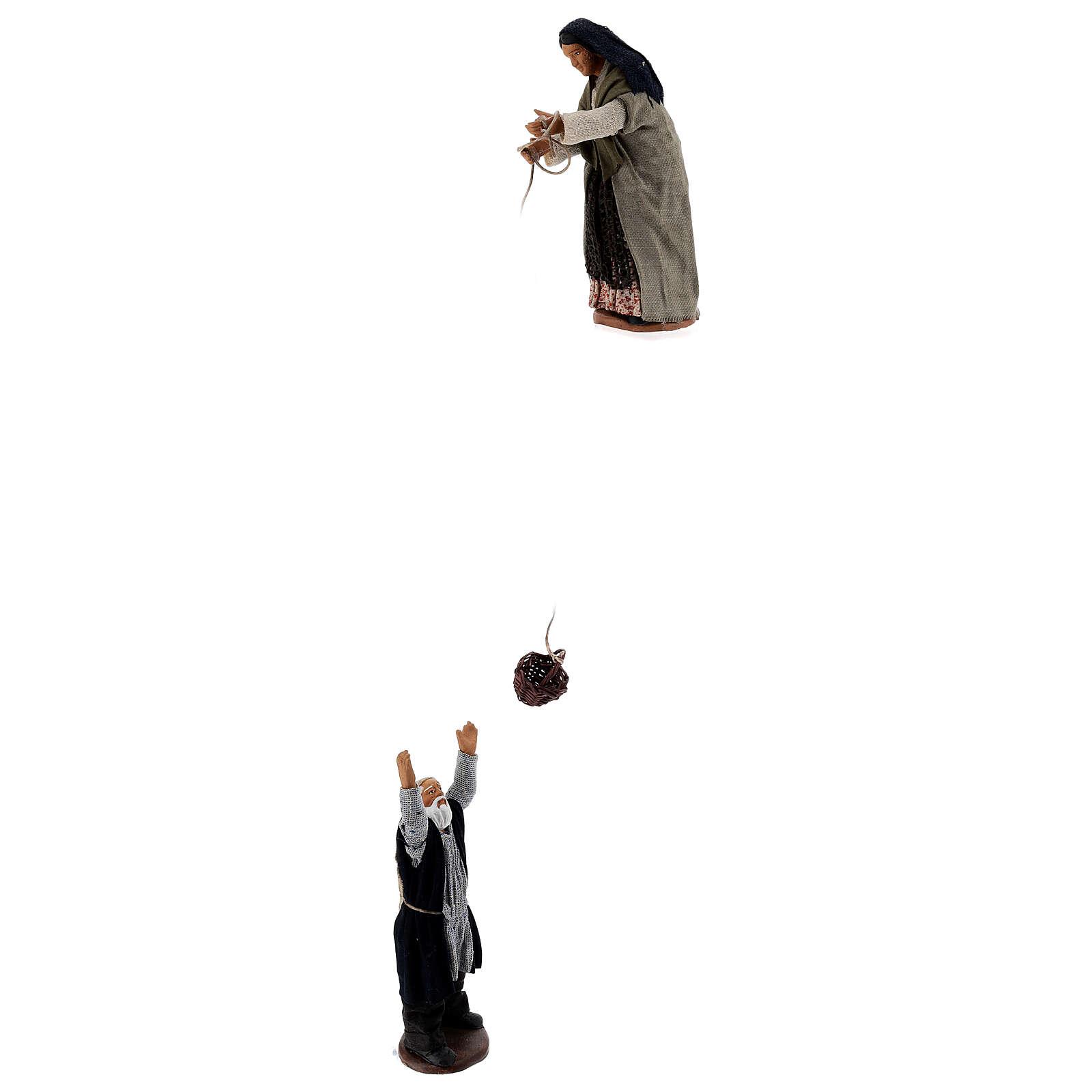 Basket scene 13 cm Neapolitan nativity 4