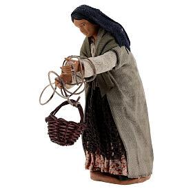 Basket scene 13 cm Neapolitan nativity s2