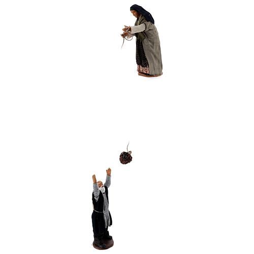 Basket scene 13 cm Neapolitan nativity 1