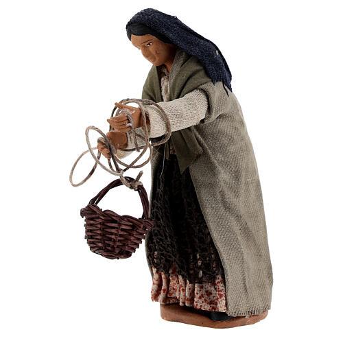 Basket scene 13 cm Neapolitan nativity 2