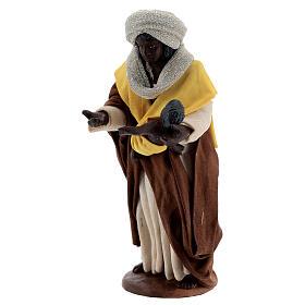 Moor woman with newborn Neapolitan nativity scene 13 cm s2