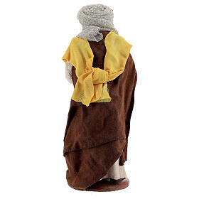 Moor woman with newborn Neapolitan nativity scene 13 cm s4