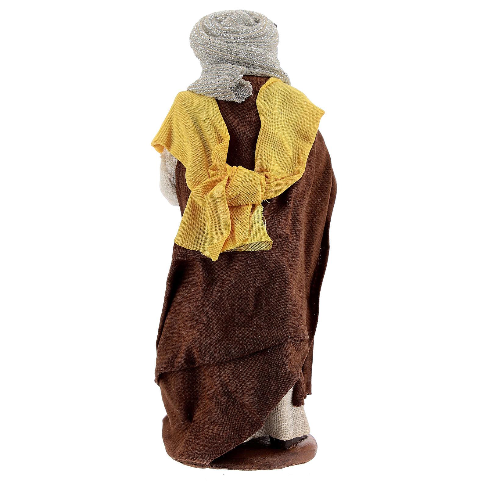 Femme maure avec bébé crèche Naples 13 cm 4