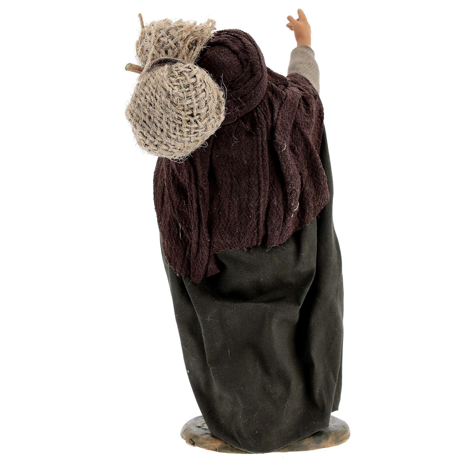 Fanciullo viandante presepe napoletano 30 cm 4