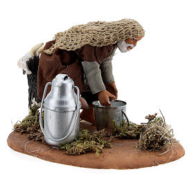 Shepherd milking goat Neapolitan nativity scene figurine 10 cm s3