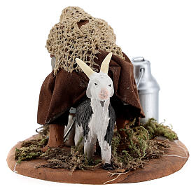 Shepherd milking goat Neapolitan nativity 10 cm s4
