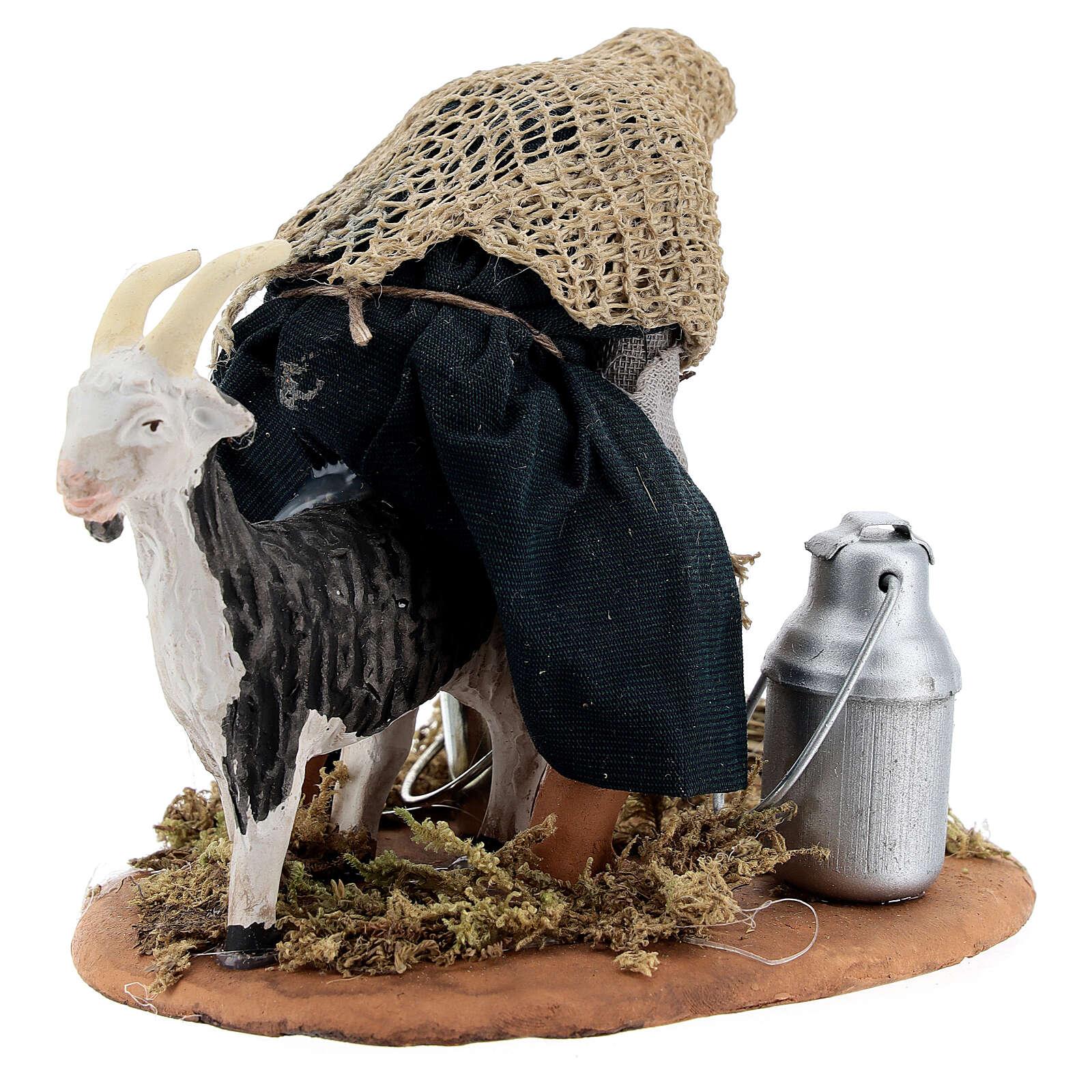 Goat milker Neapolitan nativity scene figurine 13 cm 4