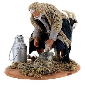 Goat milker Neapolitan nativity scene figurine 13 cm s6