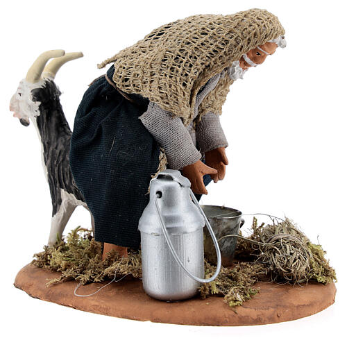Goat milker Neapolitan nativity scene figurine 13 cm 5