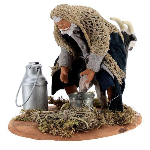 Goat milker Neapolitan nativity scene figurine 13 cm 6