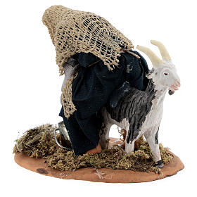 Fermier qui trait une chèvre crèche napolitaine 13 cm s7