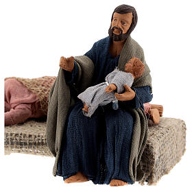 Holy Family sleeping Mary figurine, 13 cm Neapolitan nativity s2