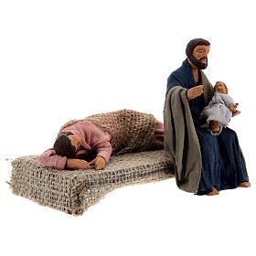 Holy Family sleeping Mary figurine, 13 cm Neapolitan nativity s4