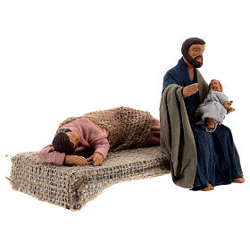 Holy Family sleeping Mary scene 13 cm Neapolitan nativity s4