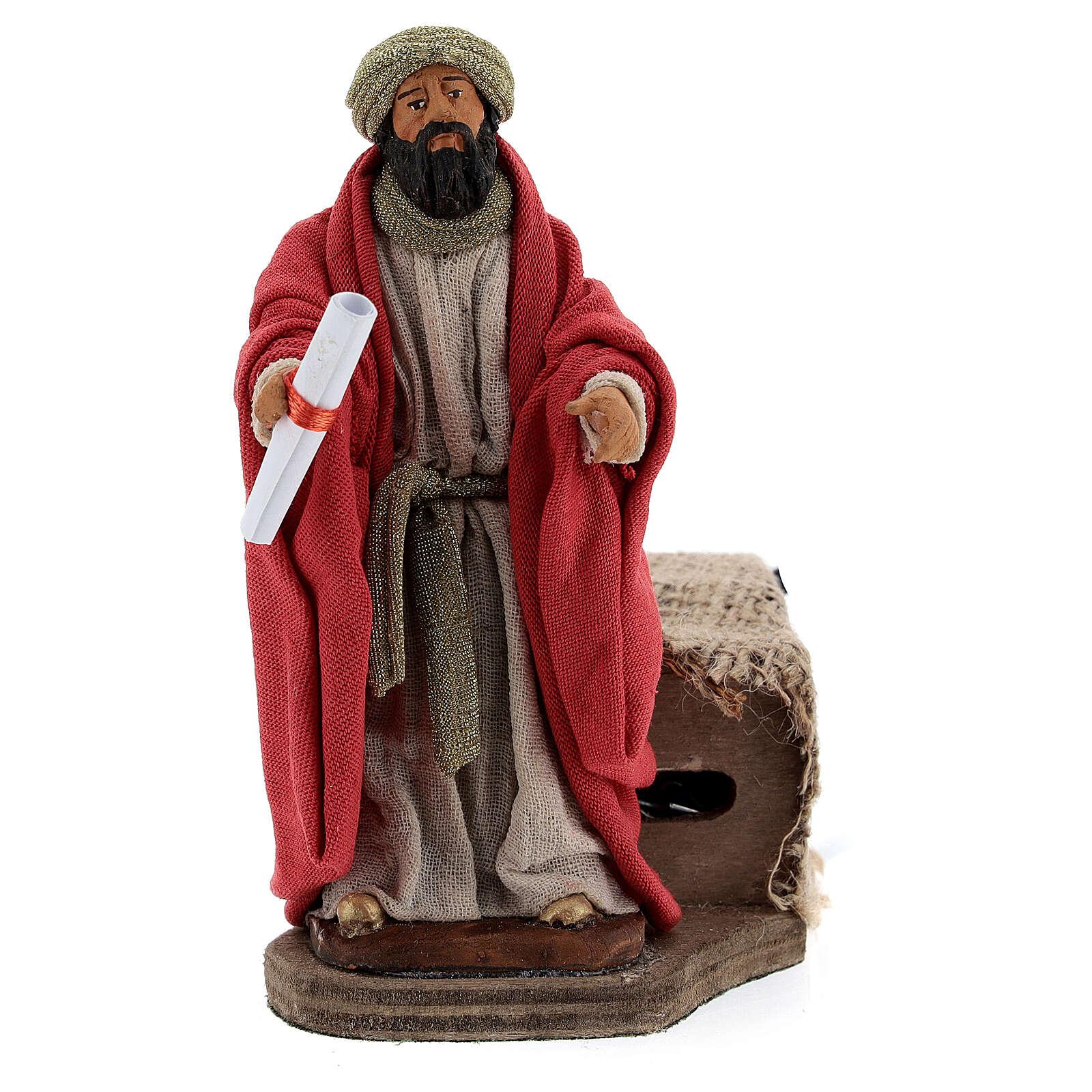 Movimento Rei Herodes para presépio de Nápoles figuras altura média 12 cm 4