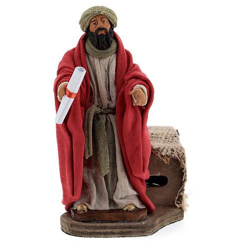 Movimento Rei Herodes para presépio de Nápoles figuras altura média 12 cm 1