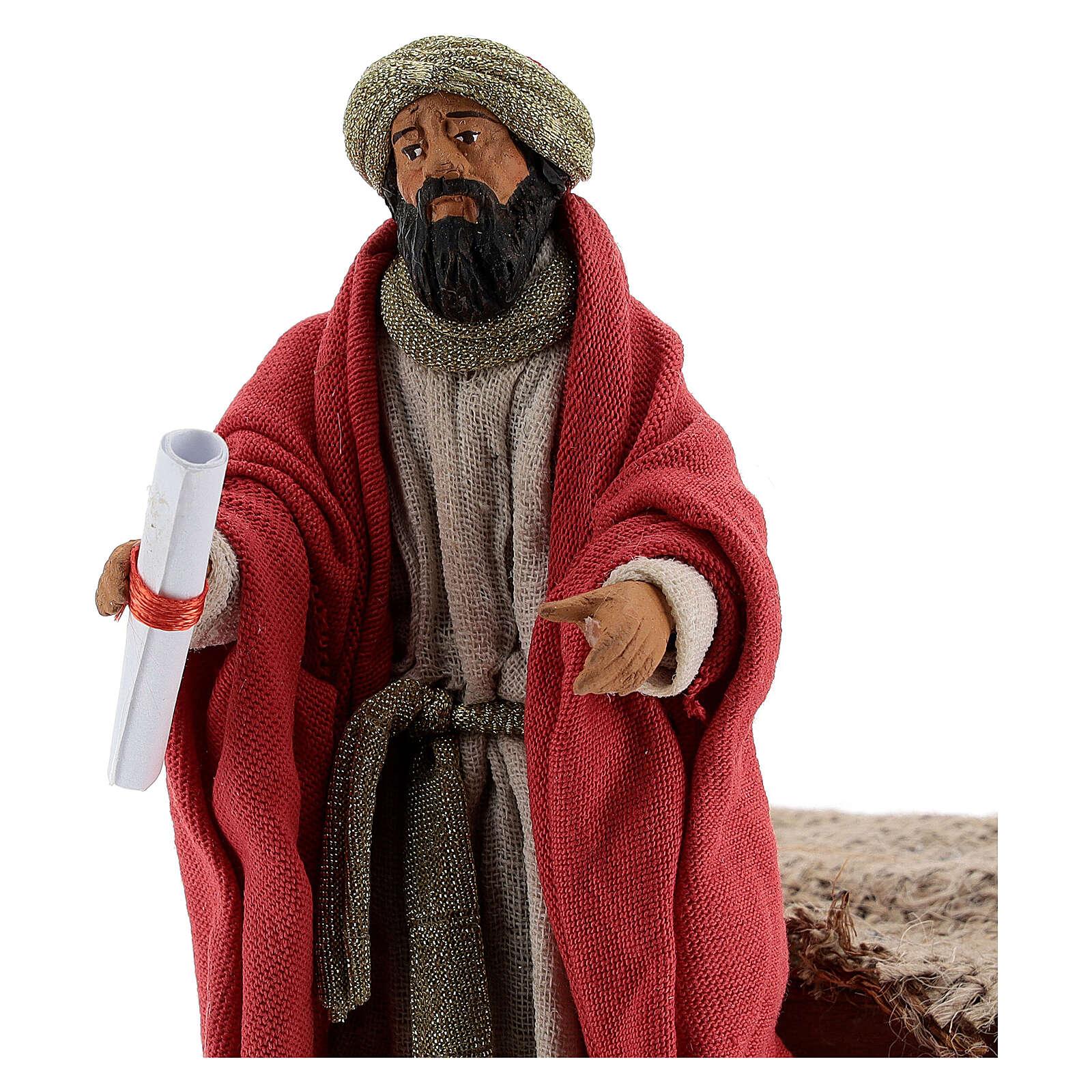 Animated King Herod statue, 12 cm Neapolitan nativity 4