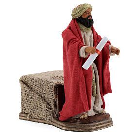 Animated King Herod statue, 12 cm Neapolitan nativity s4