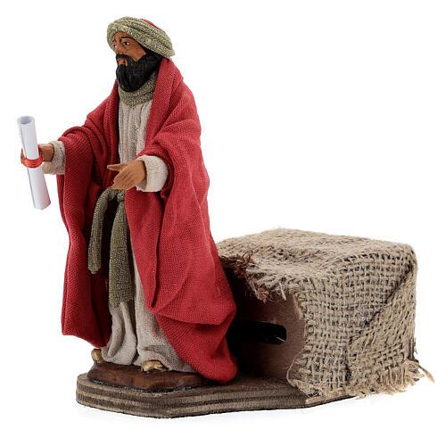 Animated King Herod statue, 12 cm Neapolitan nativity 3