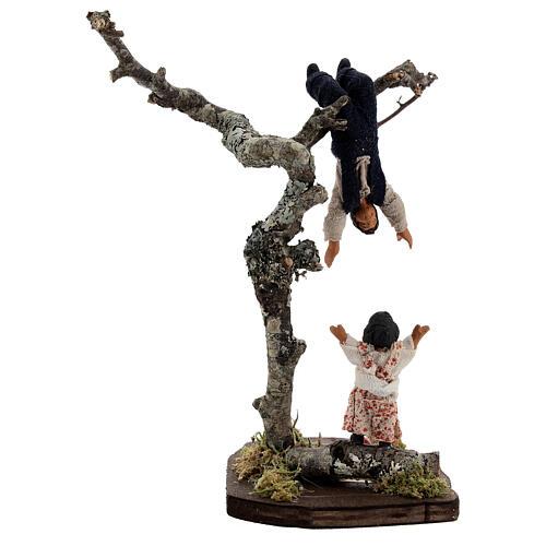 Children playing on tree figurine, 13 cm Neapolitan nativity scene 5