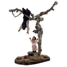 Crianças jogando na árvore para presépio napolitano com figuras de altura média 13 cm s4