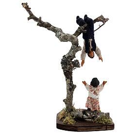 Crianças jogando na árvore para presépio napolitano com figuras de altura média 13 cm s5