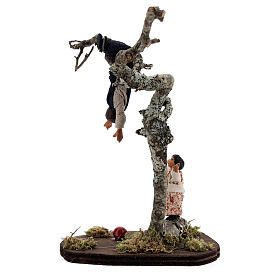 Crianças jogando na árvore para presépio napolitano com figuras de altura média 13 cm s6