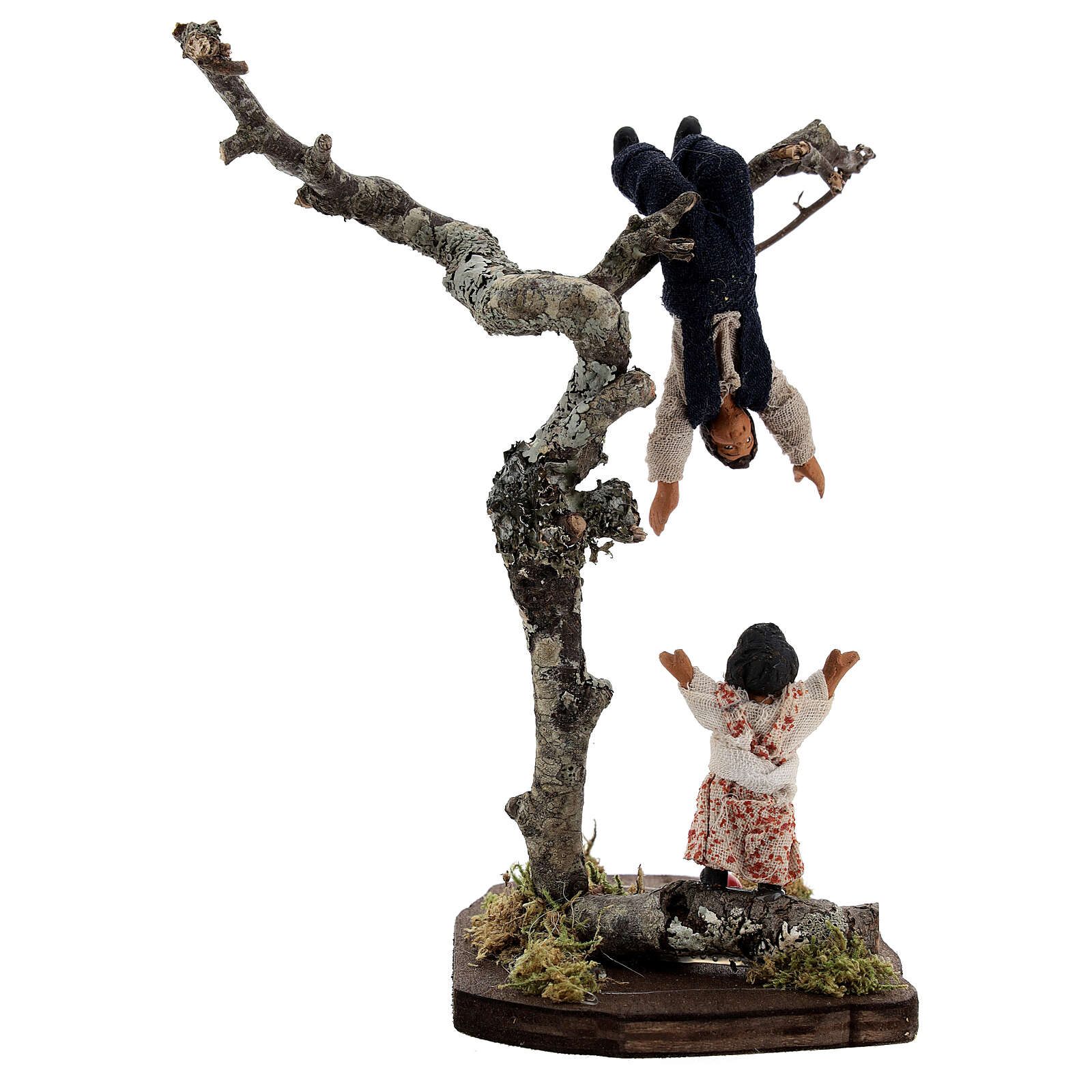 Children playing on tree 13 cm Neapolitan nativity 4