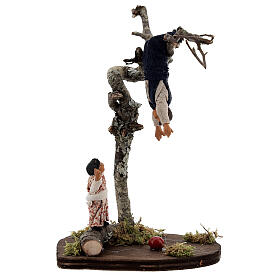 Children playing on tree 13 cm Neapolitan nativity s1