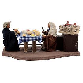 Animated dinner table scene 10 cm Neapolitan nativity s1