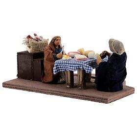 Animated dinner table scene 10 cm Neapolitan nativity s3