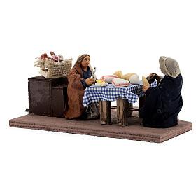 Animated dinner table scene 10 cm Neapolitan nativity s5