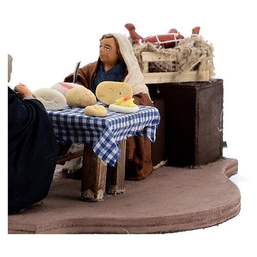 Animated dinner table scene 10 cm Neapolitan nativity 2