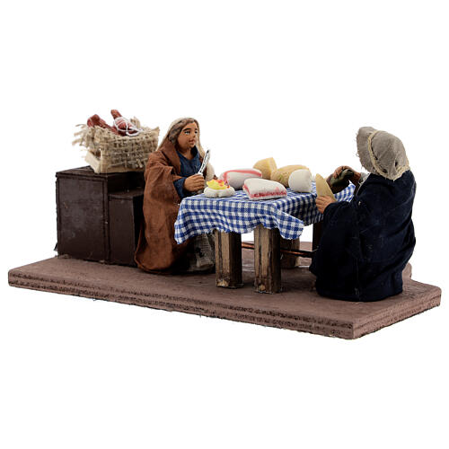 Animated dinner table scene 10 cm Neapolitan nativity 3