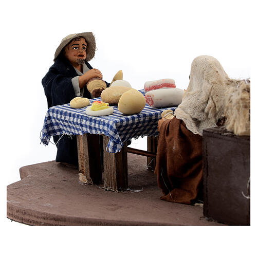 Animated dinner table scene 10 cm Neapolitan nativity 4