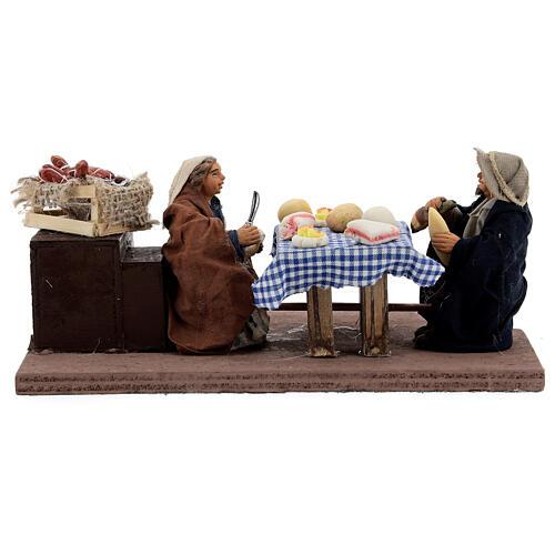 Animated dinner table scene 10 cm Neapolitan nativity 8
